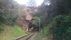 L'entrée du Tunnel le 11 mars 2013