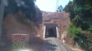 L'entrée du Tunnel le 08 juillet 2013.