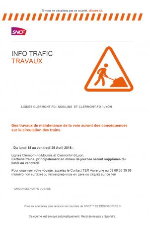 Mail Alerte Travaux