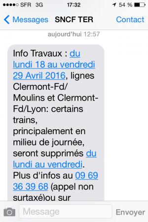 SMS Alerte Travaux
