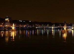 Rhône à Lyon au soir du 8 décembre 2017_FlorianPéppelin